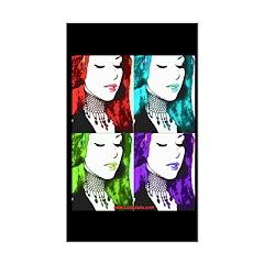 Luna Warhol Rectangle Decal