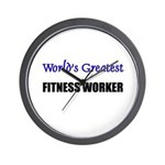 Worlds Greatest FITNESS WORKER Wall Clock