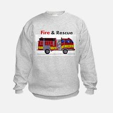Unique Fire truck Sweatshirt