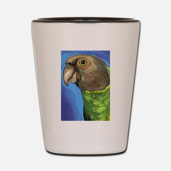 Senegal Parrot Shot Glass