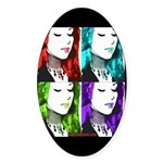 Luna Warhol Oval Sticker