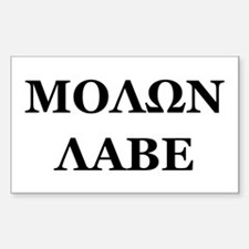 Cute Molon labe Decal