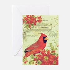 Vintage Christmas Cardinal Greeting Cards