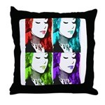 Luna Warhol Throw Pillow