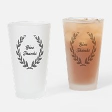 GIVE THANKS Drinking Glass
