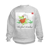 Alligator in the elevator hoodless Crew Neck