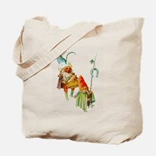 Gnomes with a Baby Pig Tote Bag