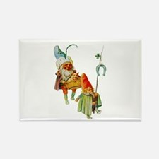 Gnomes with a Baby Pig Rectangle Magnet