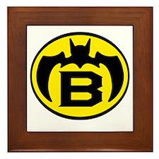 Super B Hero Logo Costume 04 Framed Tile