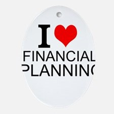I Love Financial Planning Oval Ornament