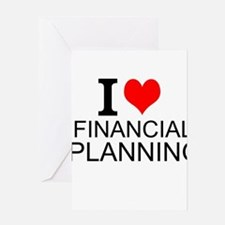 I Love Financial Planning Greeting Cards