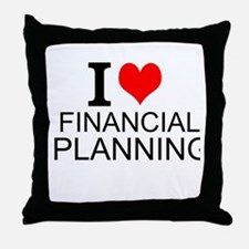 I Love Financial Planning Throw Pillow