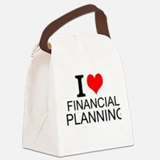 I Love Financial Planning Canvas Lunch Bag