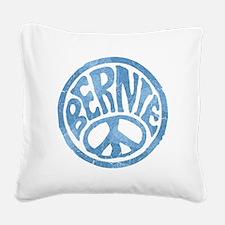 60s Peace Bernie Square Canvas Pillow