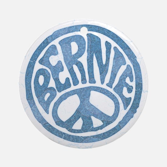 60s Peace Bernie Round Ornament