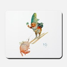 Gnome Skiing with a Pig Mousepad