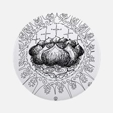 color me * lotus mandala Round Ornament