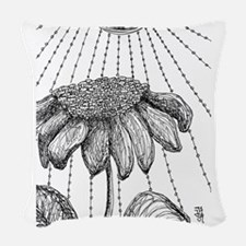 color me * sunflower Woven Throw Pillow