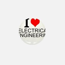 I Love Electrical Engineering Mini Button