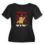 Kitten Trick or Treat ? Women's Plus Size Scoop Ne