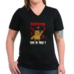 Kitten Trick or Treat ? Women's V-Neck Dark T-Shir