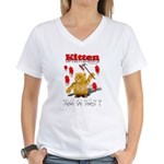 Kitten Trick or Treat ? Women's V-Neck T-Shirt