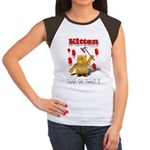 Kitten Trick or Treat ? Women's Cap Sleeve T-Shirt
