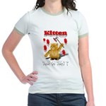 Kitten Trick or Treat ? Jr. Ringer T-Shirt