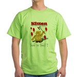 Kitten Trick or Treat ? Green T-Shirt