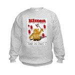Kitten Trick or Treat ? Kids Sweatshirt