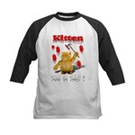 Kitten Trick or Treat ? Kids Baseball Jersey