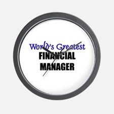 Worlds Greatest FINANCIAL MANAGER Wall Clock