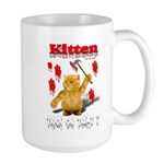 Kitten Trick or Treat ? Large Mug
