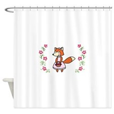 Gardening Fox Shower Curtain