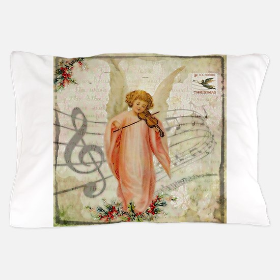 Vintage Christmas Angel Pillow Case