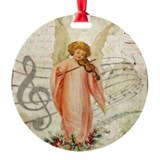 Vintage angel Round Ornament