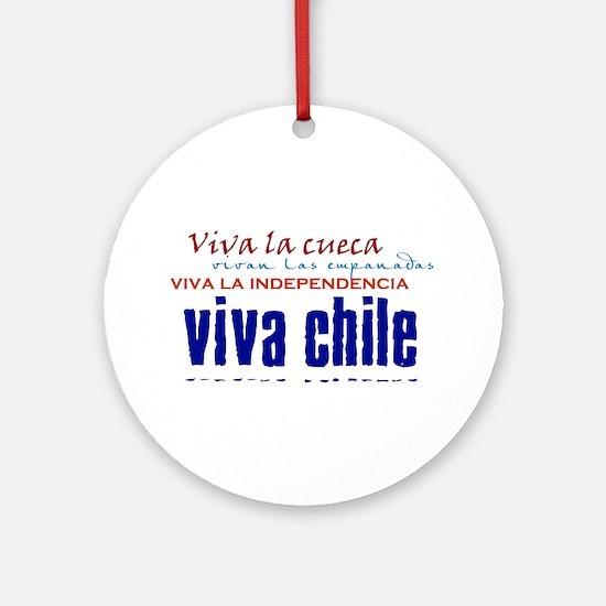 Viva lo Chileno Ornament (Round)