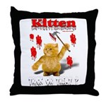 Kitten Trick or Treat ? Throw Pillow