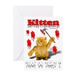 Kitten Trick or Treat ? Greeting Card
