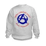 Anarchy-Free Yourself Kids Sweatshirt