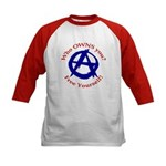 Anarchy-Free Yourself Kids Baseball Jersey