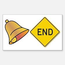 bellend bell end sign bells Decal