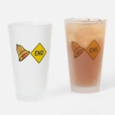 bellend bell end sign bells Drinking Glass