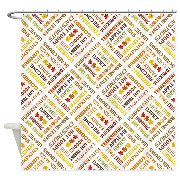 FALL WORDS Shower Curtain By TheThanksgivingShoppe