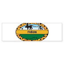 FABIAN - safari Bumper Bumper Bumper Sticker