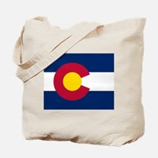 Colorado state flag Authentic in HD Tote Bag