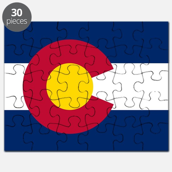 Colorado state flag Authentic in HD Puzzle