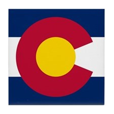 Colorado state flag Authentic in HD Tile Coaster