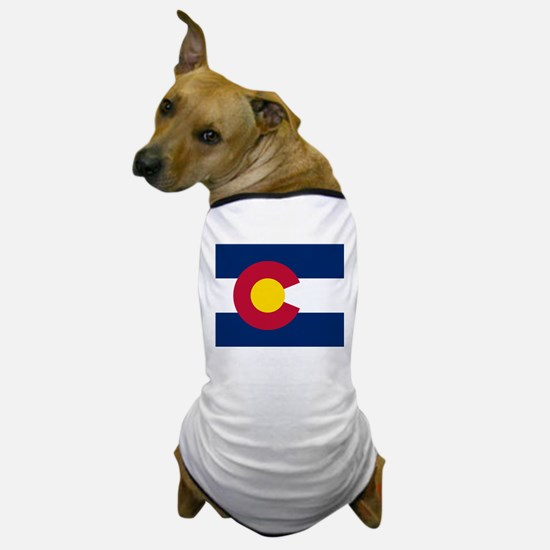 Colorado state flag Authentic in HD Dog T-Shirt