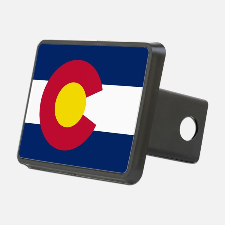 Colorado state flag Authen Hitch Cover